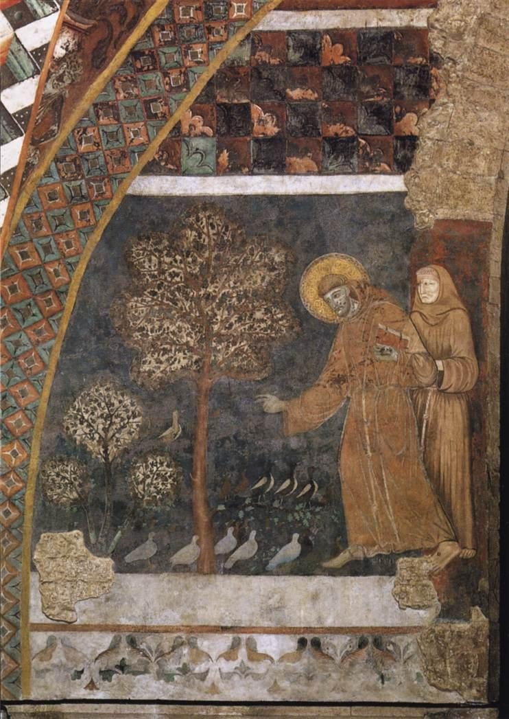 Master Of St Francis - Scenes from the Life of St Francis - Francis Preaching to the Birds - WGA14503.jpg