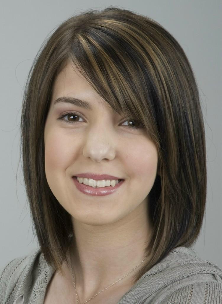 File:Medium length brunette with highlights.jpg ...