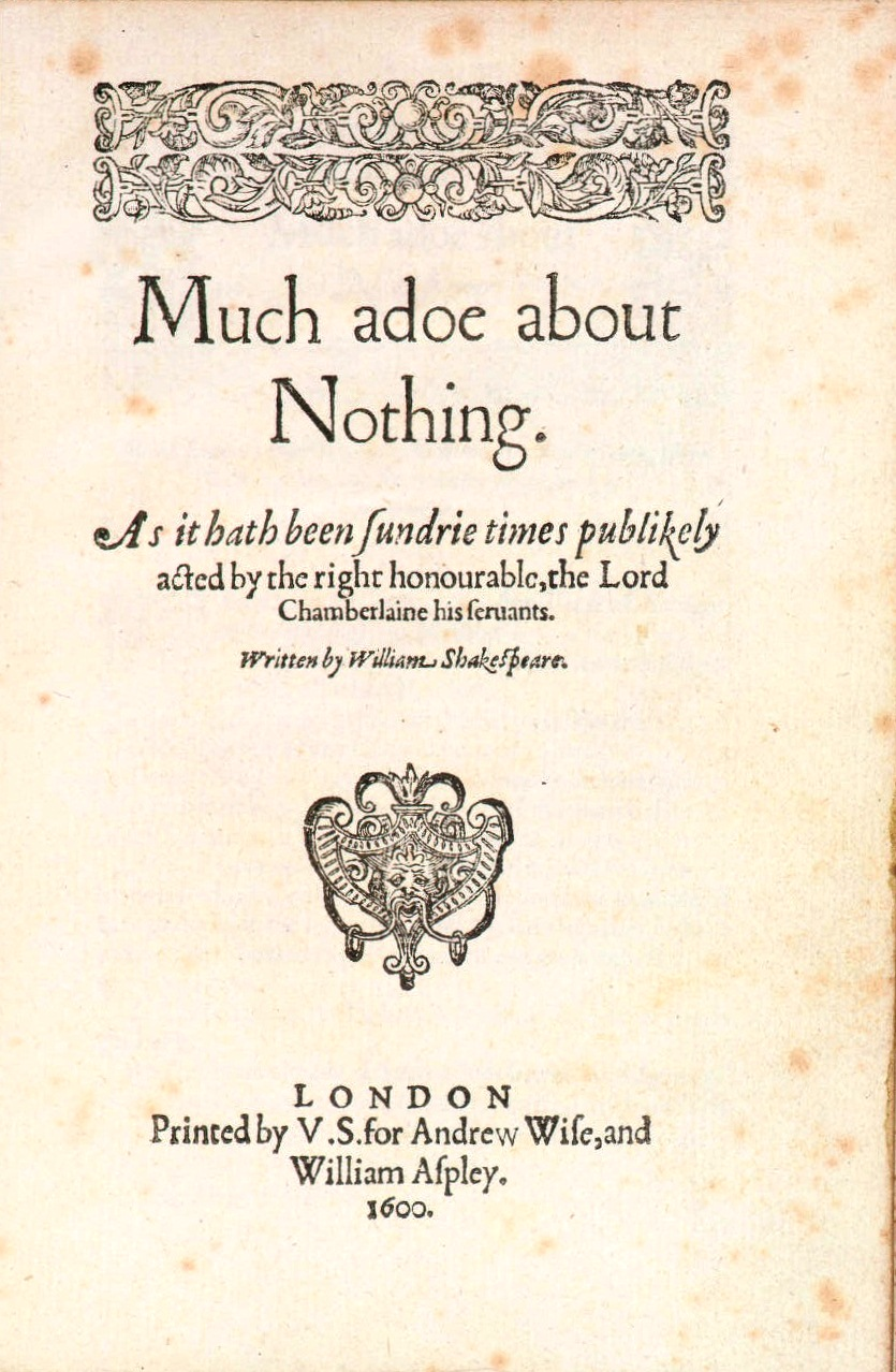 much ado about nothing passion Much ado about nothing is a 2012 american independent film directed, produced, and written by joss whedon, based on william shakespeare's play of the same name.
