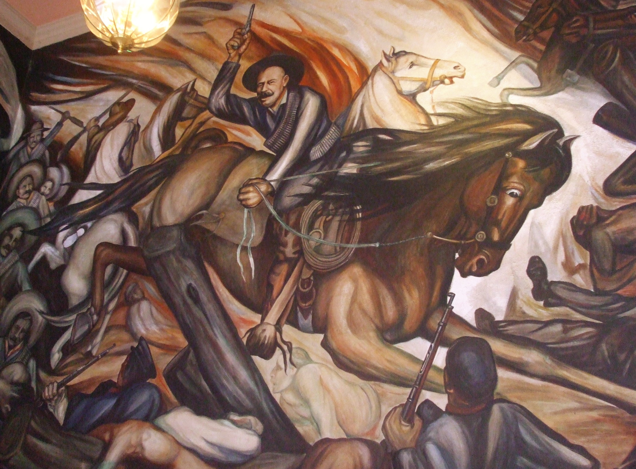 File mural pancho wikimedia commons for Mural revolucion mexicana