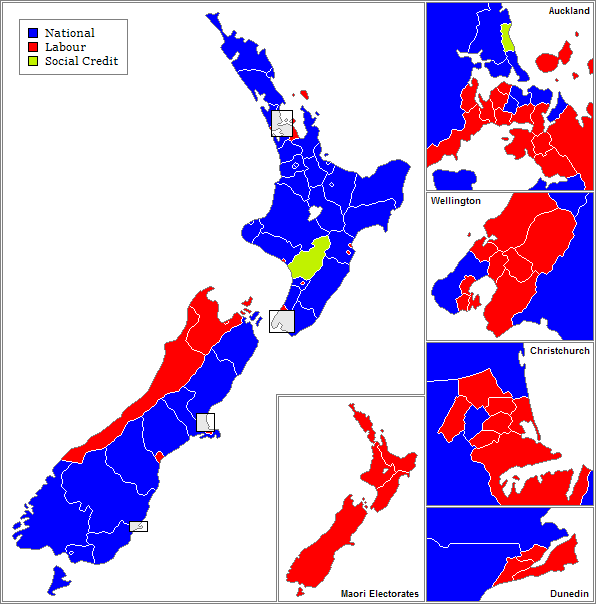 Map of electorates.