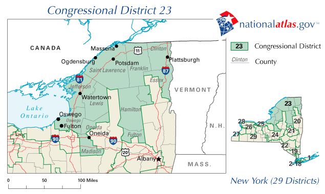 File:New York District 23 109th US Congress.png