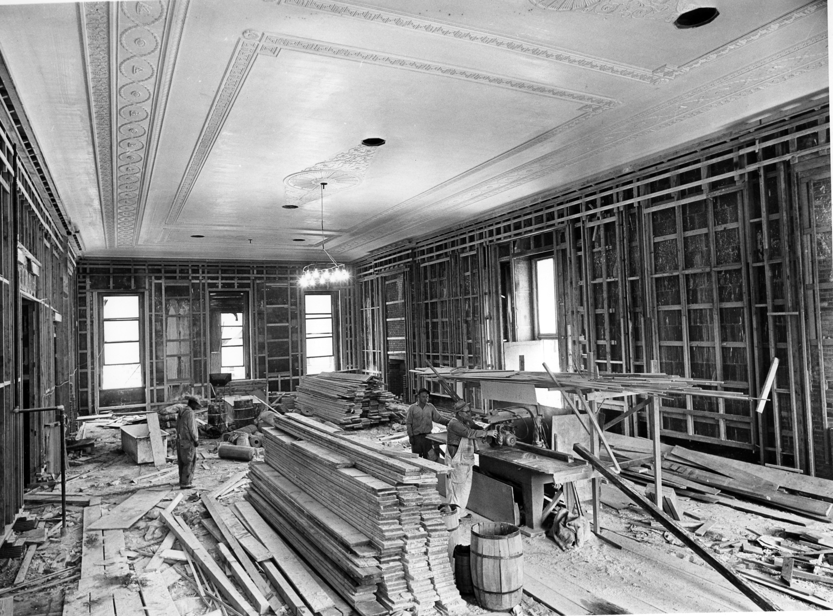 File northeast view in the east room during the white for Renovation wiki