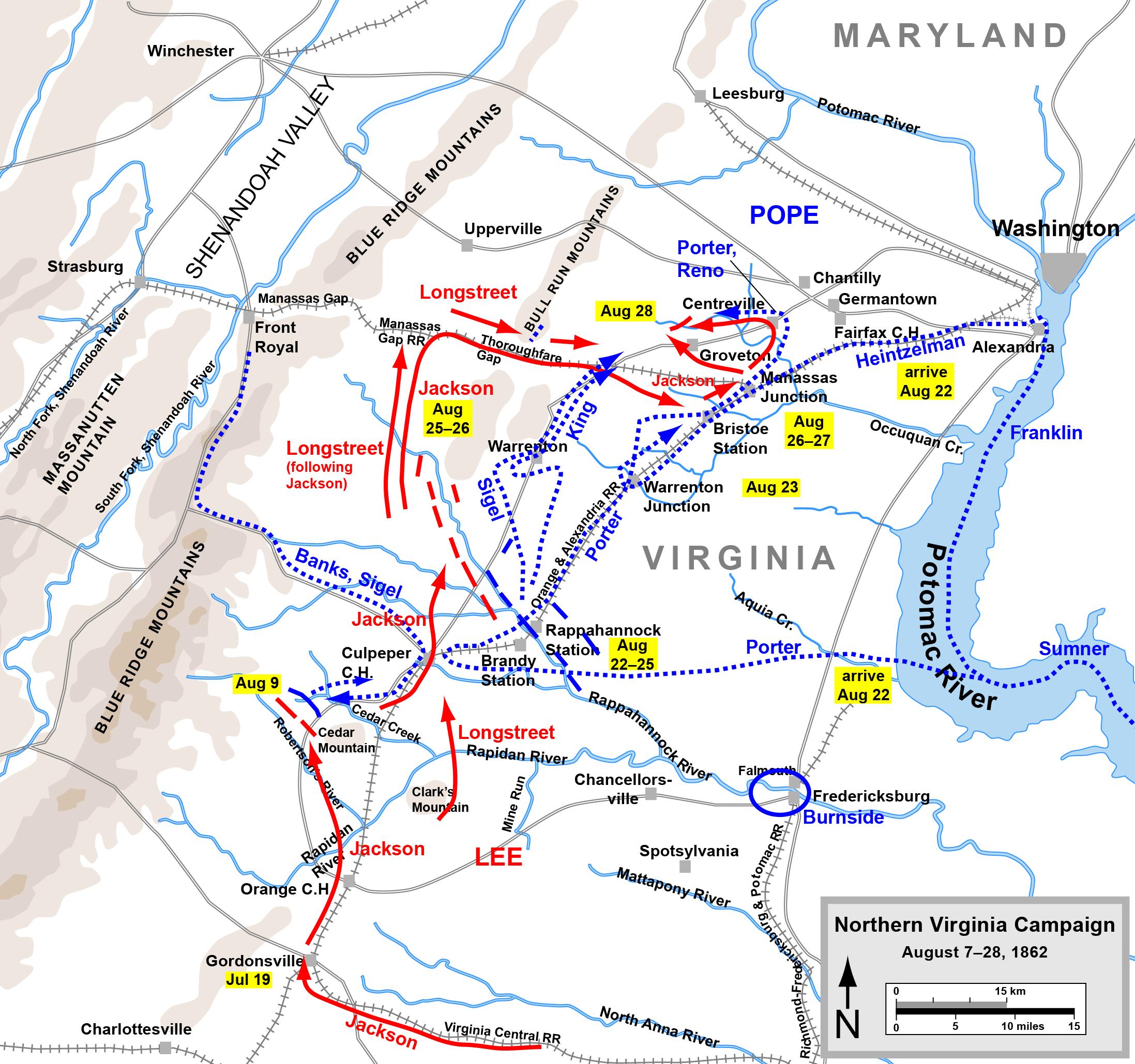 Civil War Battles In Virginia Map List of American Civil War battles in Northern Virginia   Wikipedia
