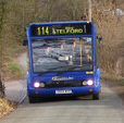 Optare Solo in Shropshire Bus livery, Stableford, 12 March 2010.jpg