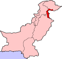 Location of Azad Kashmir