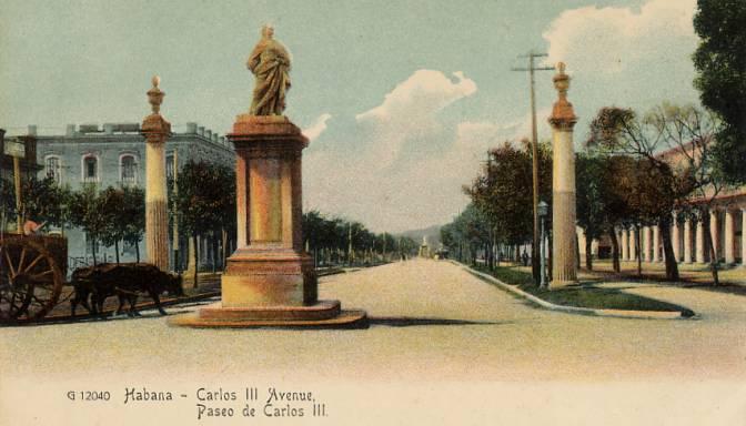 Archivo:Paseo de Carlos III (La Habana, Cuba - tarjeta postal, finales del siglo XIX).jpg