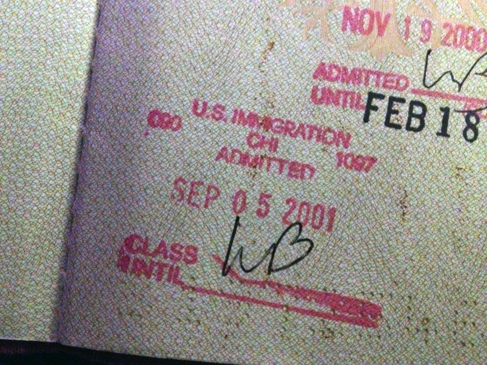 FilePassport Stamp US Immigration Chicago OHare Arrival Date September 5 2001