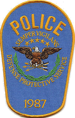 The patch of the Defense Protective Service, the USPPD's predecessor organization. Patch of the Defense Protective Service.png