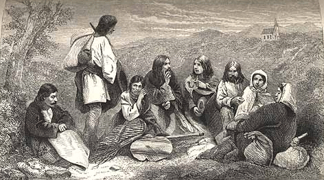 مهاجرت رمی ها / نقاشی متعلق به قرن نوزدهم میلادی