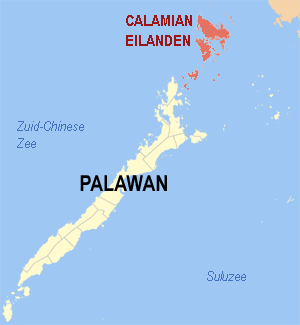 location of the Calamian Islands in the Philip...