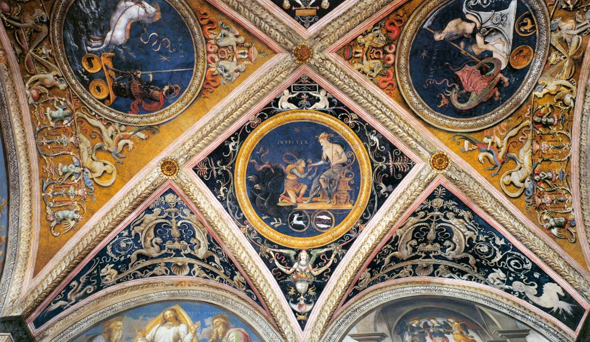 Pietro Perugino - Ceiling decoration (detail)