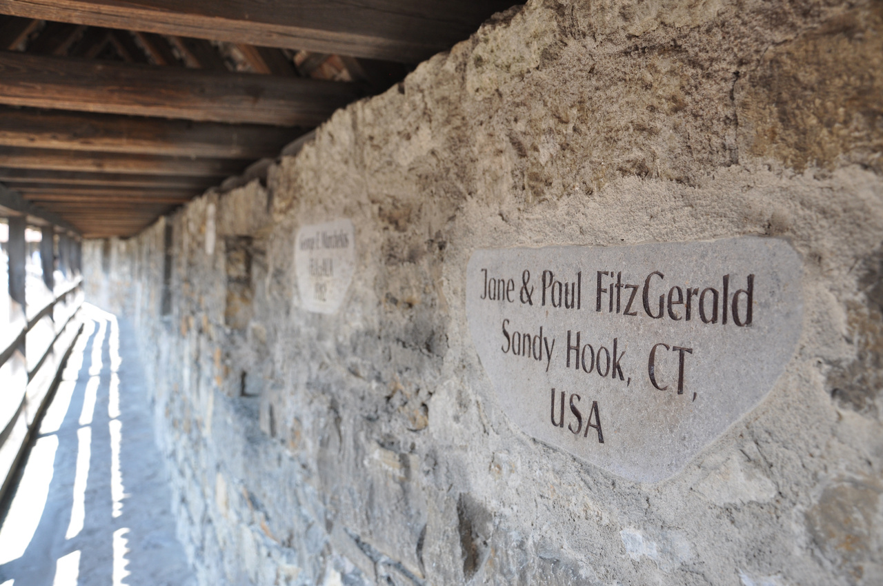 Medieval wall inscription by a Donor