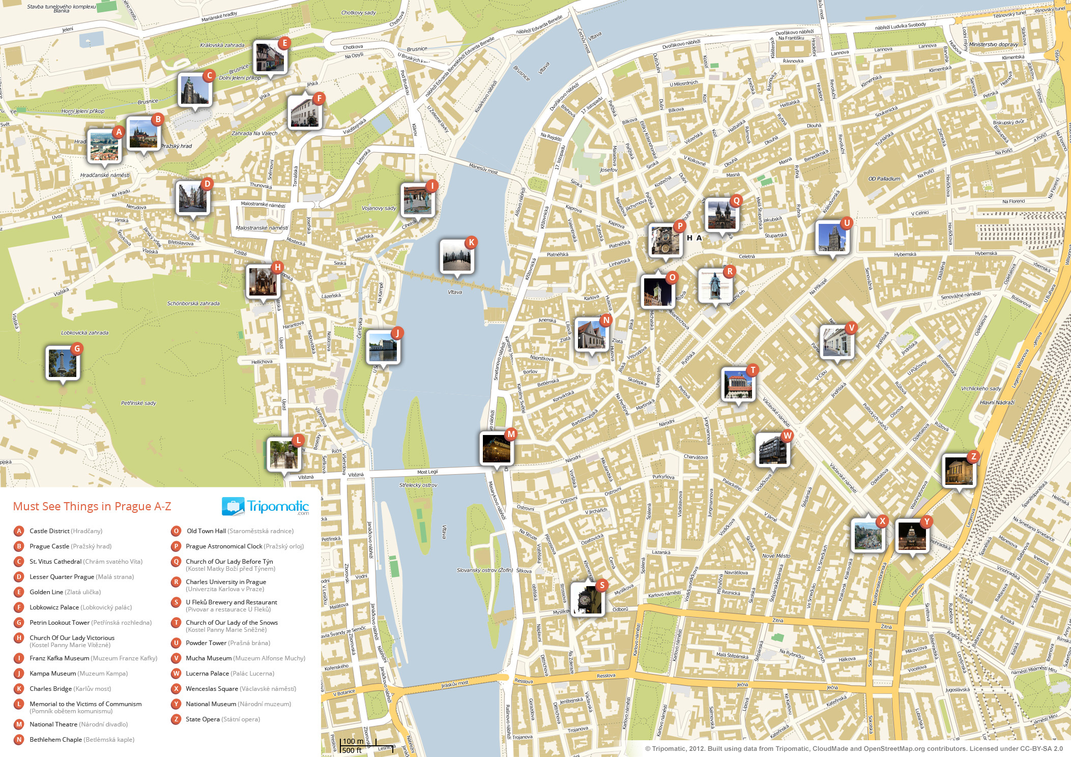 fileprague printable tourist attractions map  wikimedia commons - fileprague printable tourist attractions map
