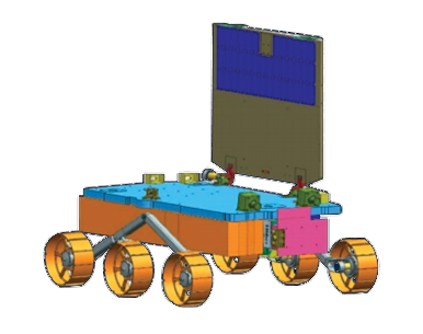 Pragyan rover of the Chandrayaan-2 mission Pragyaan Lunar Rover for Chandrayaan-2.png