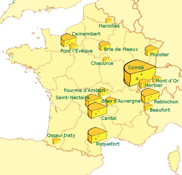 Cheeses of France - French Cheeses by regions