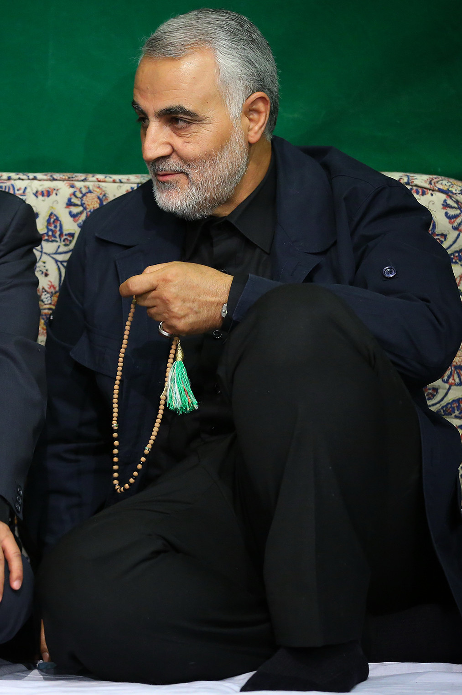 Qasem Soleymani in Imam Khomeini Hossainiah