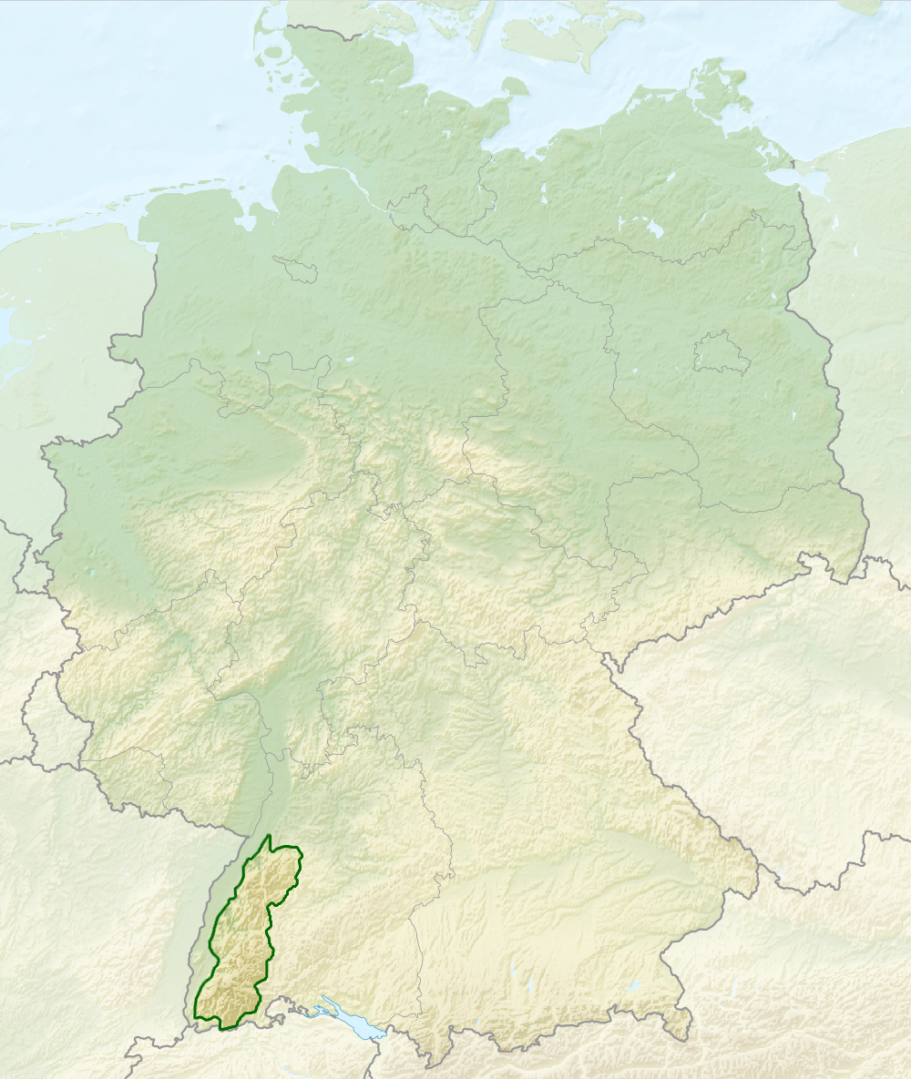 Black Forest Wikipedia - Map 9f germany