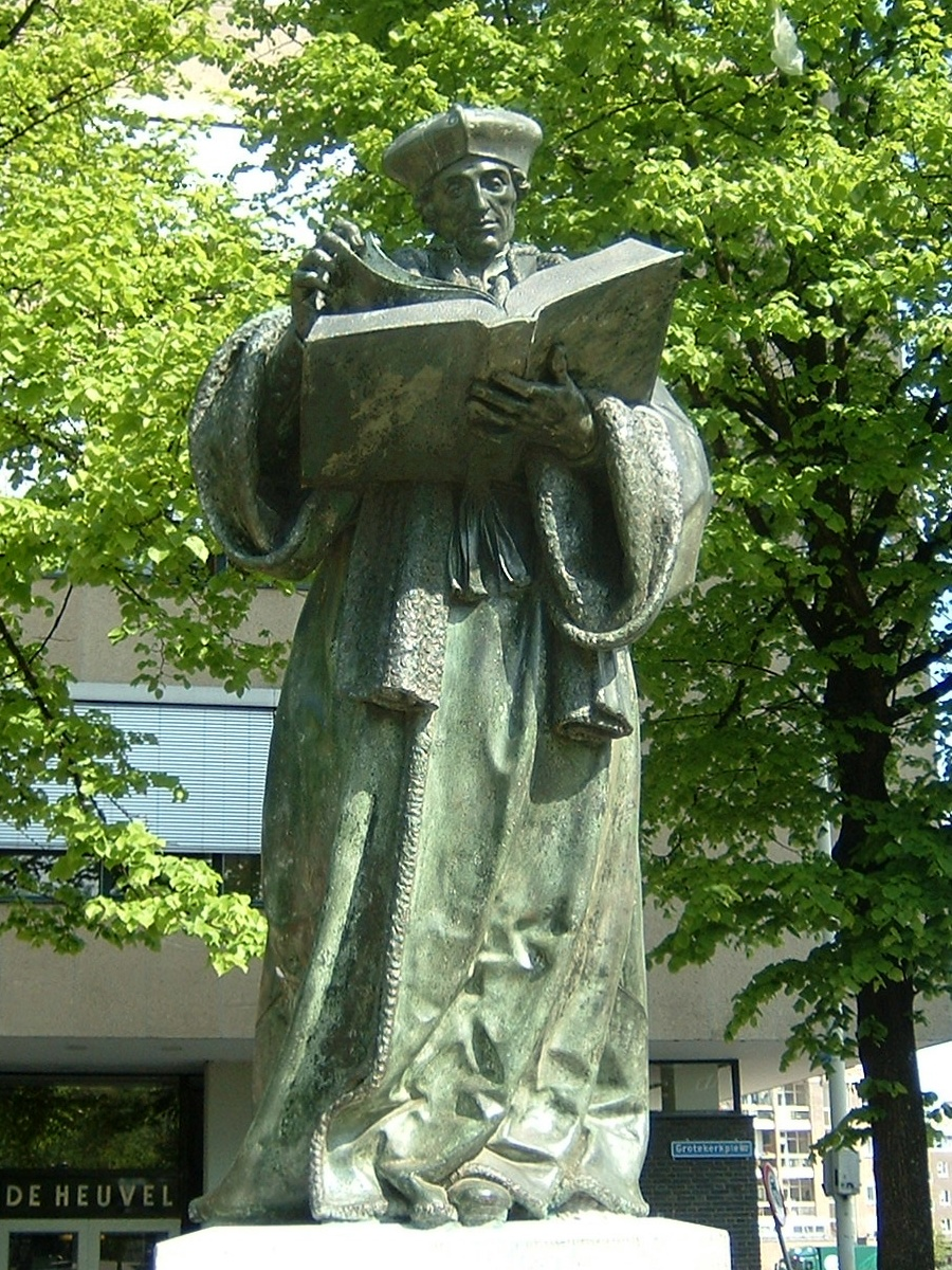 Haunted Erasmus statue