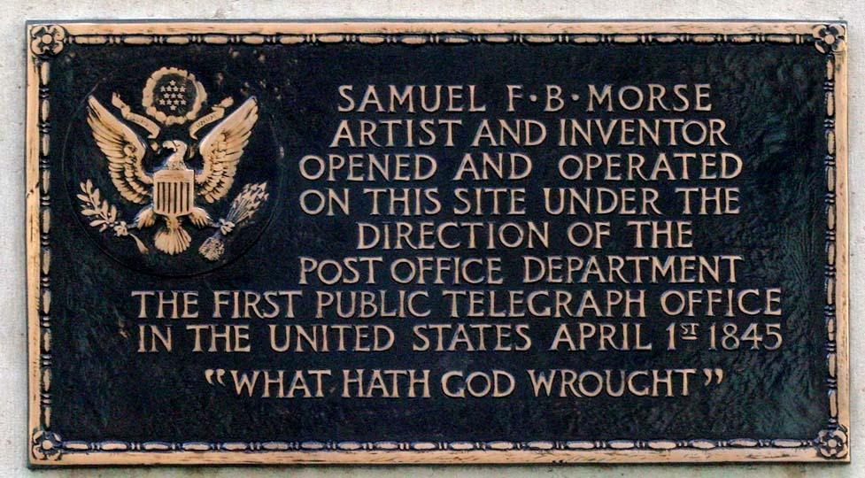 Samuel Morse Gedenktafel