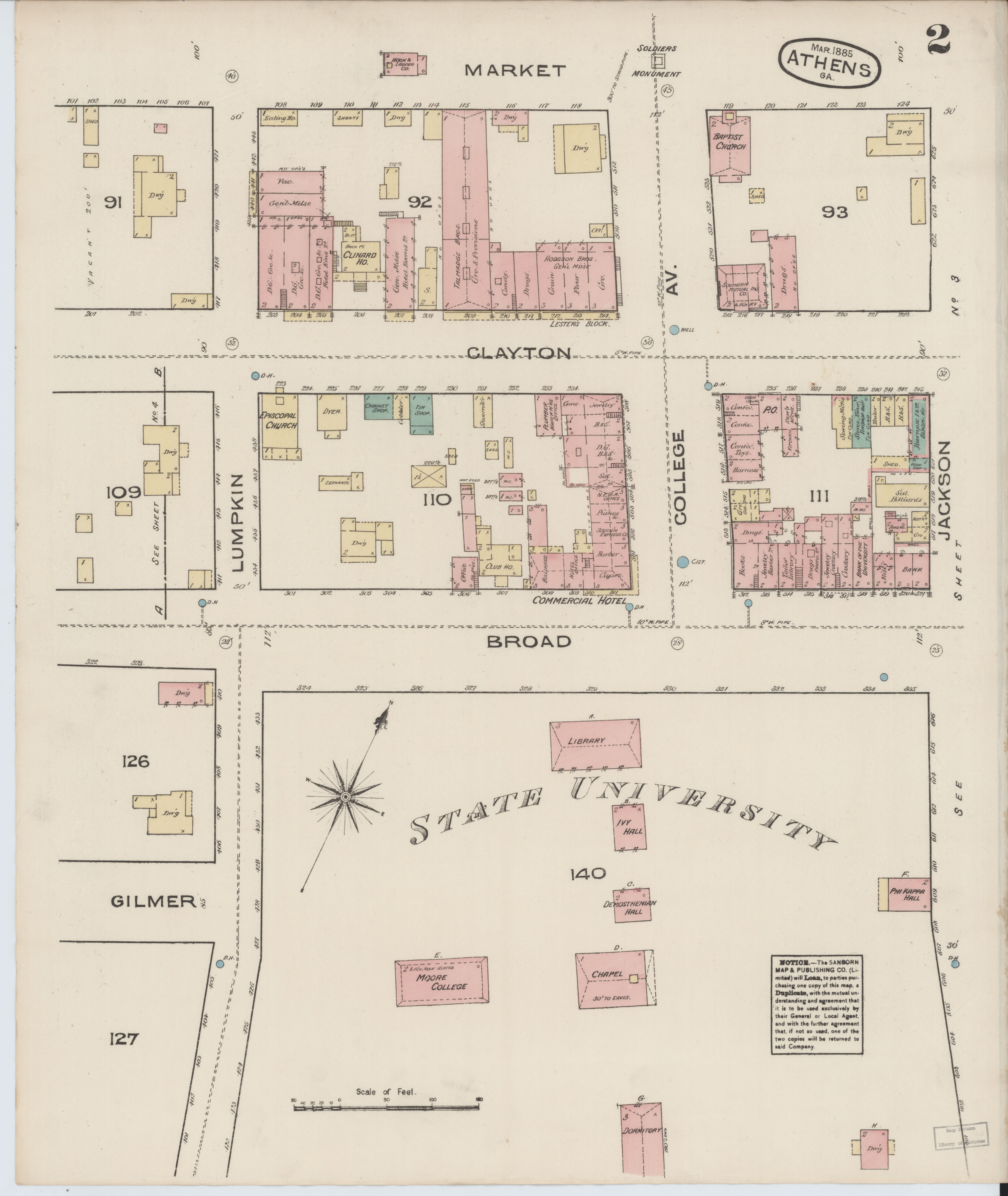 File Sanborn Fire Insurance Map From Athens Clarke County Georgia