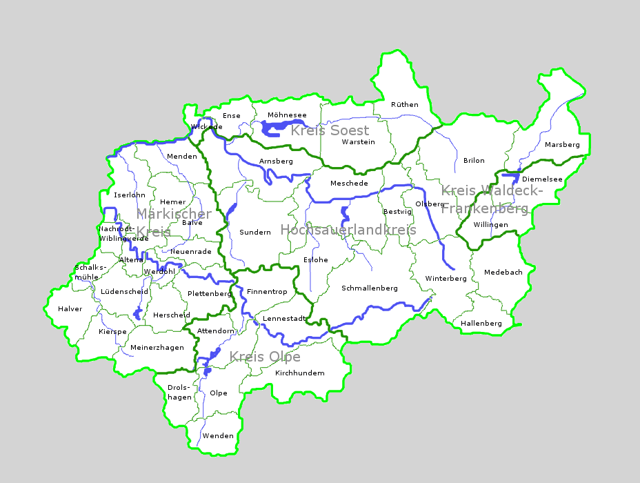 Sauerland Karte Berge.Sauerland Wikipedia