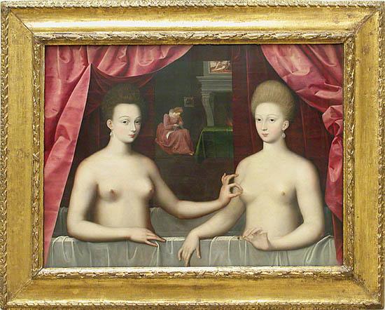 File:Scuola di fontainebleau, presunti ritratti di gabrielle d'estrées sua sorella la duchessa di villars, 1594 ca. 07.jpg