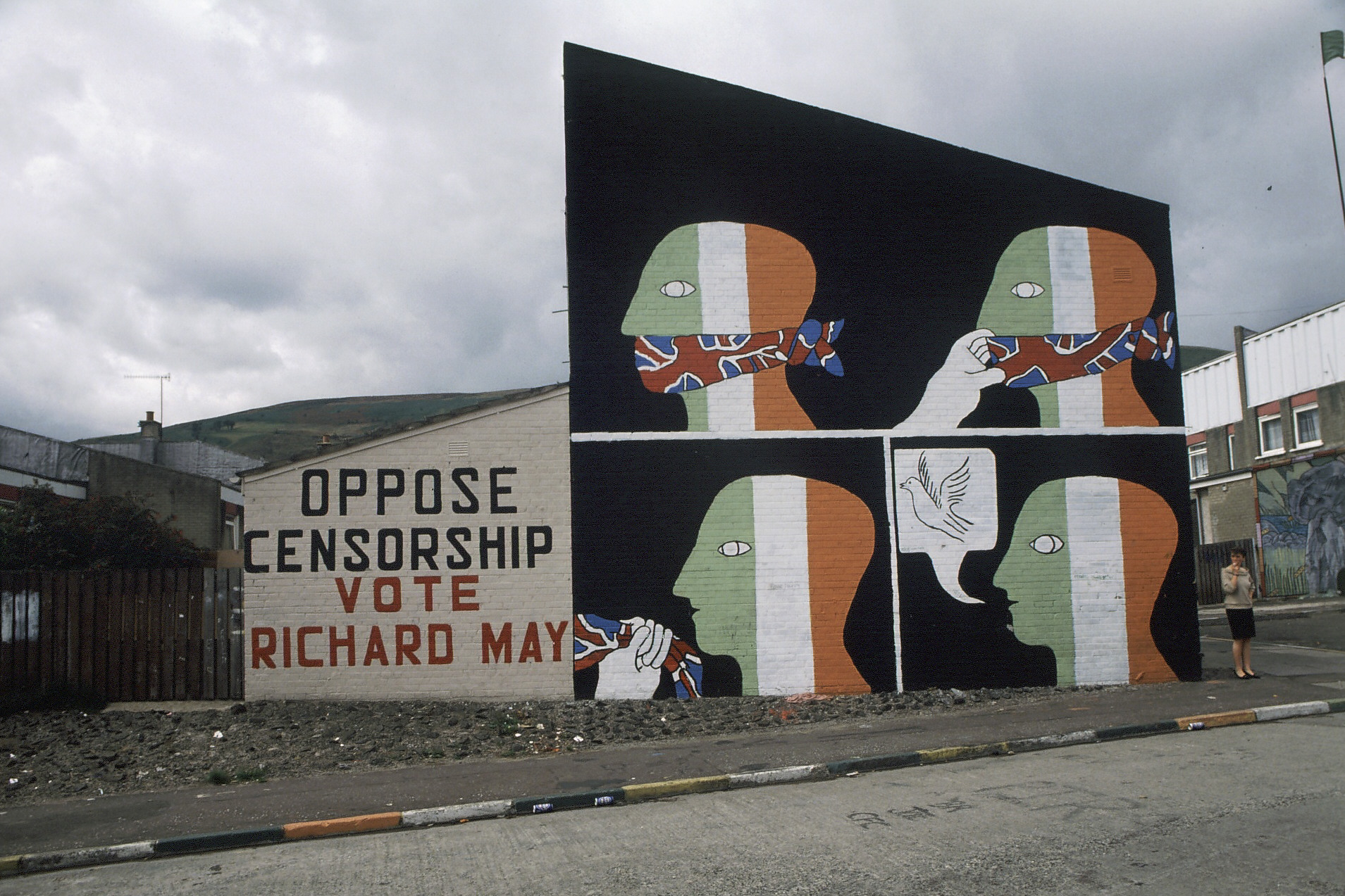 A Belfast mural referring to the 1988 Broadcast Ban