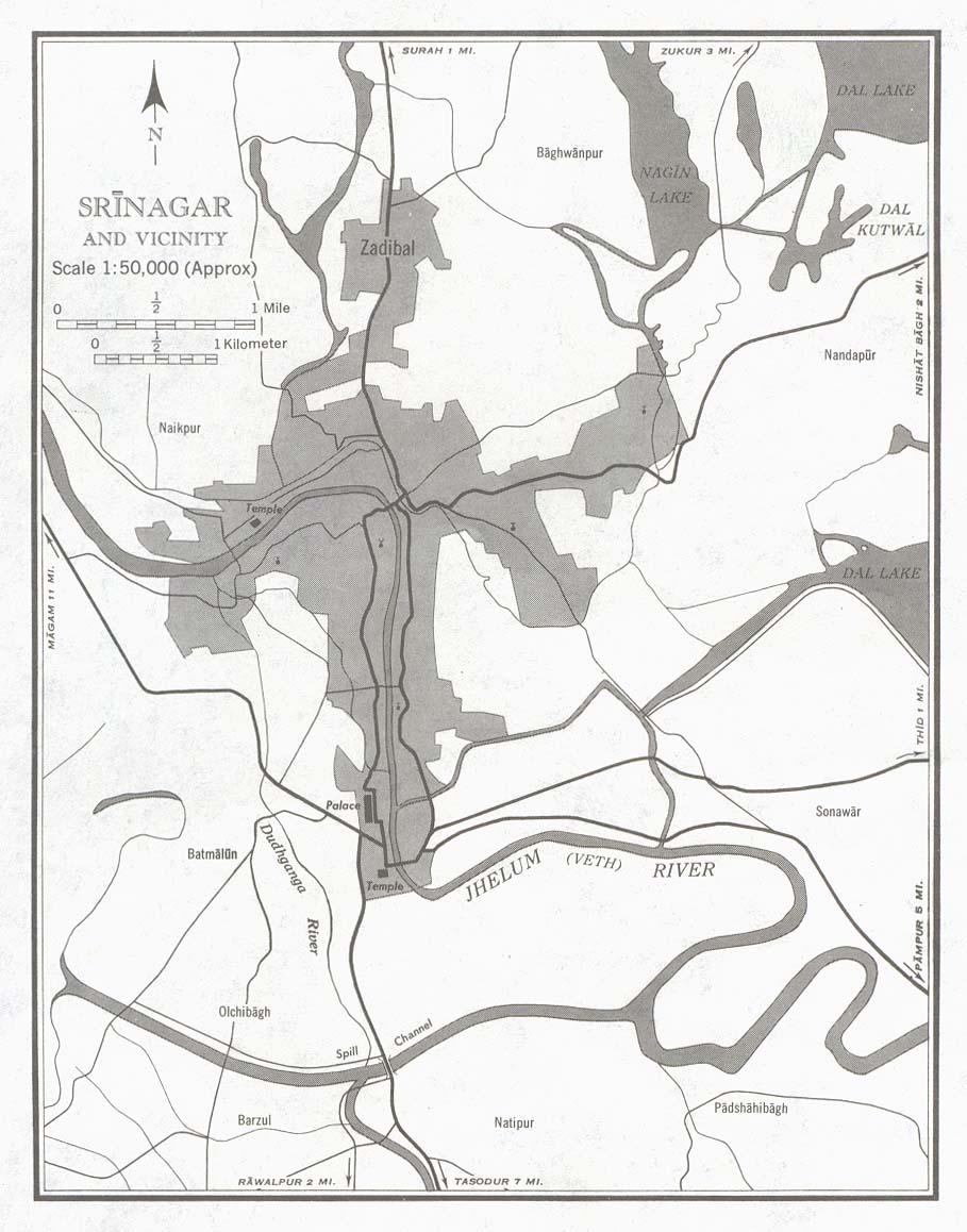 Srinagar city and its vicinity in 1959