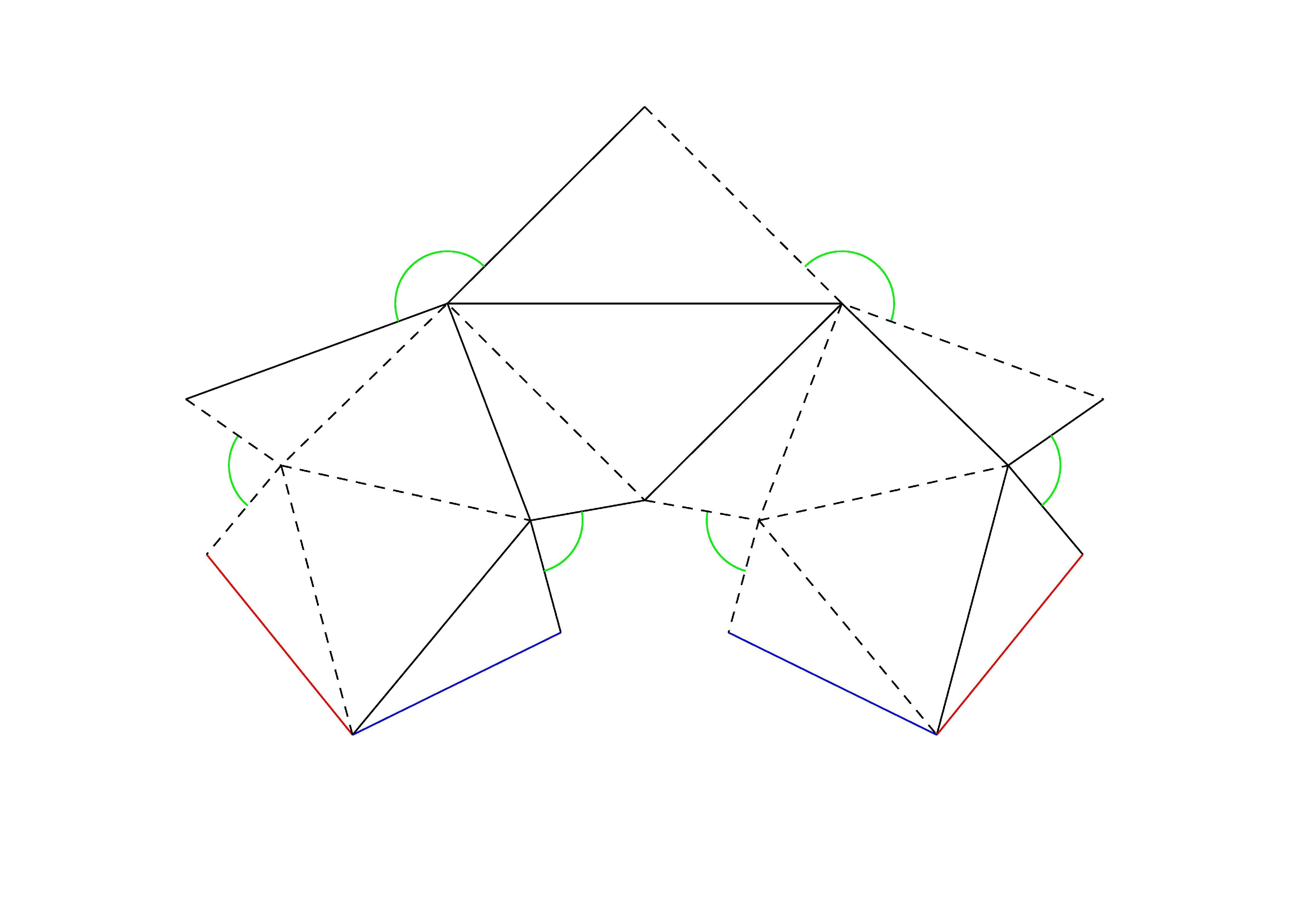 Сделать геометрическую открытку, воскресного