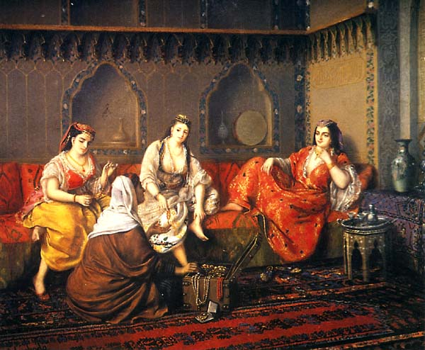 Harem Slaves http://en.wikipedia.org/wiki/File:Swoboda-shopping_in_harem_mid19th.jpg