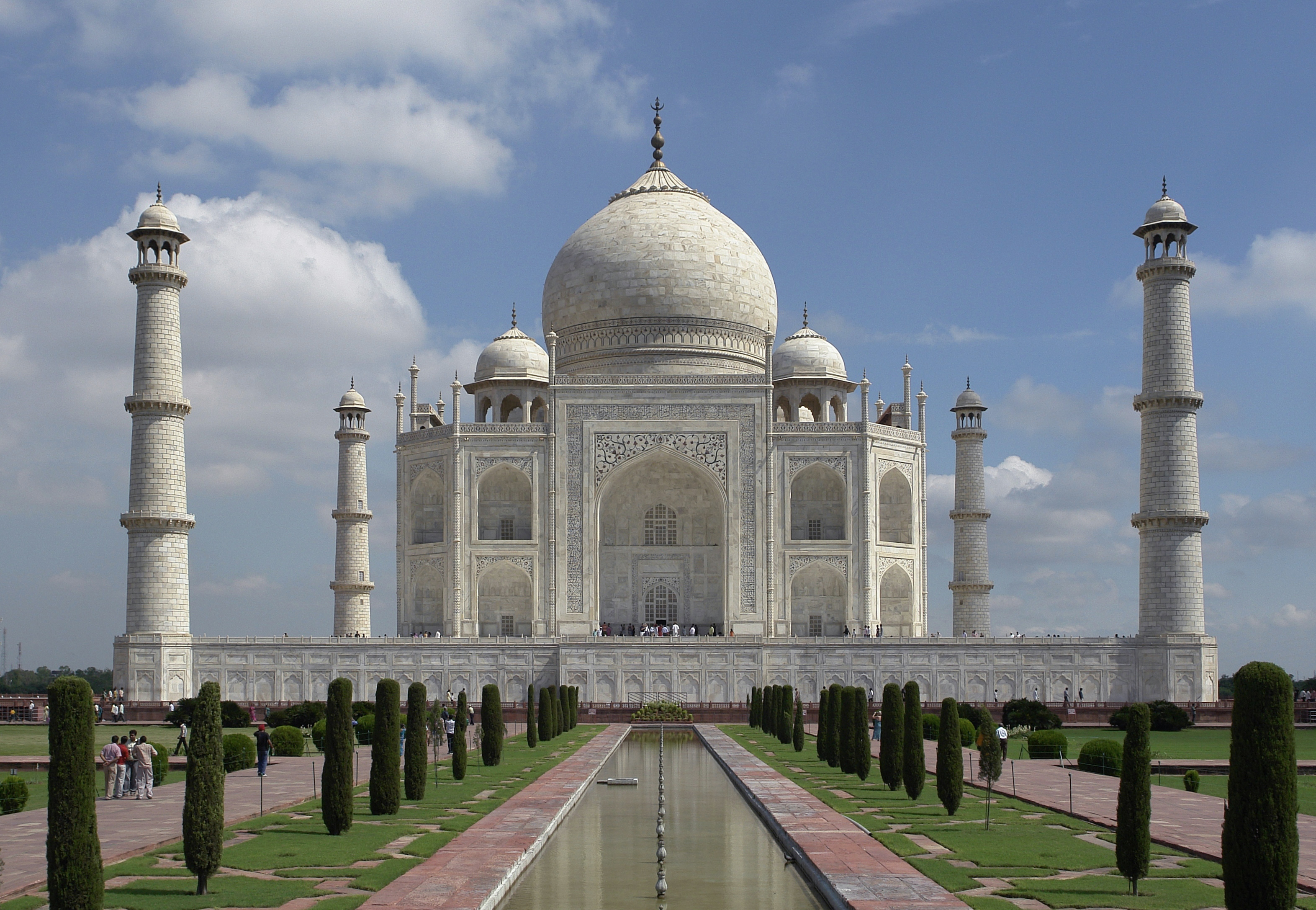 Southern view of the Taj Mahal.