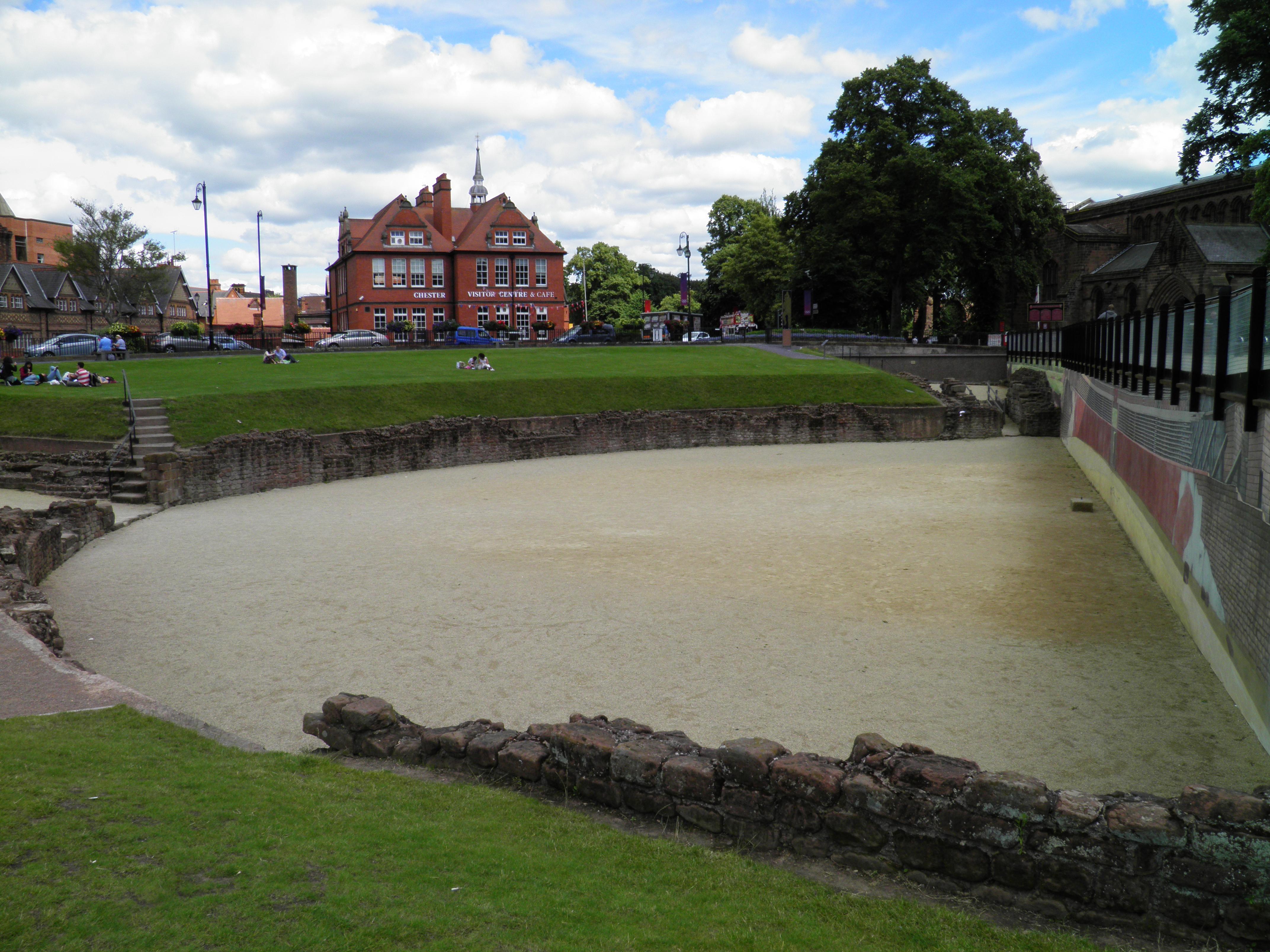 Part renovada de l'amfiteatre