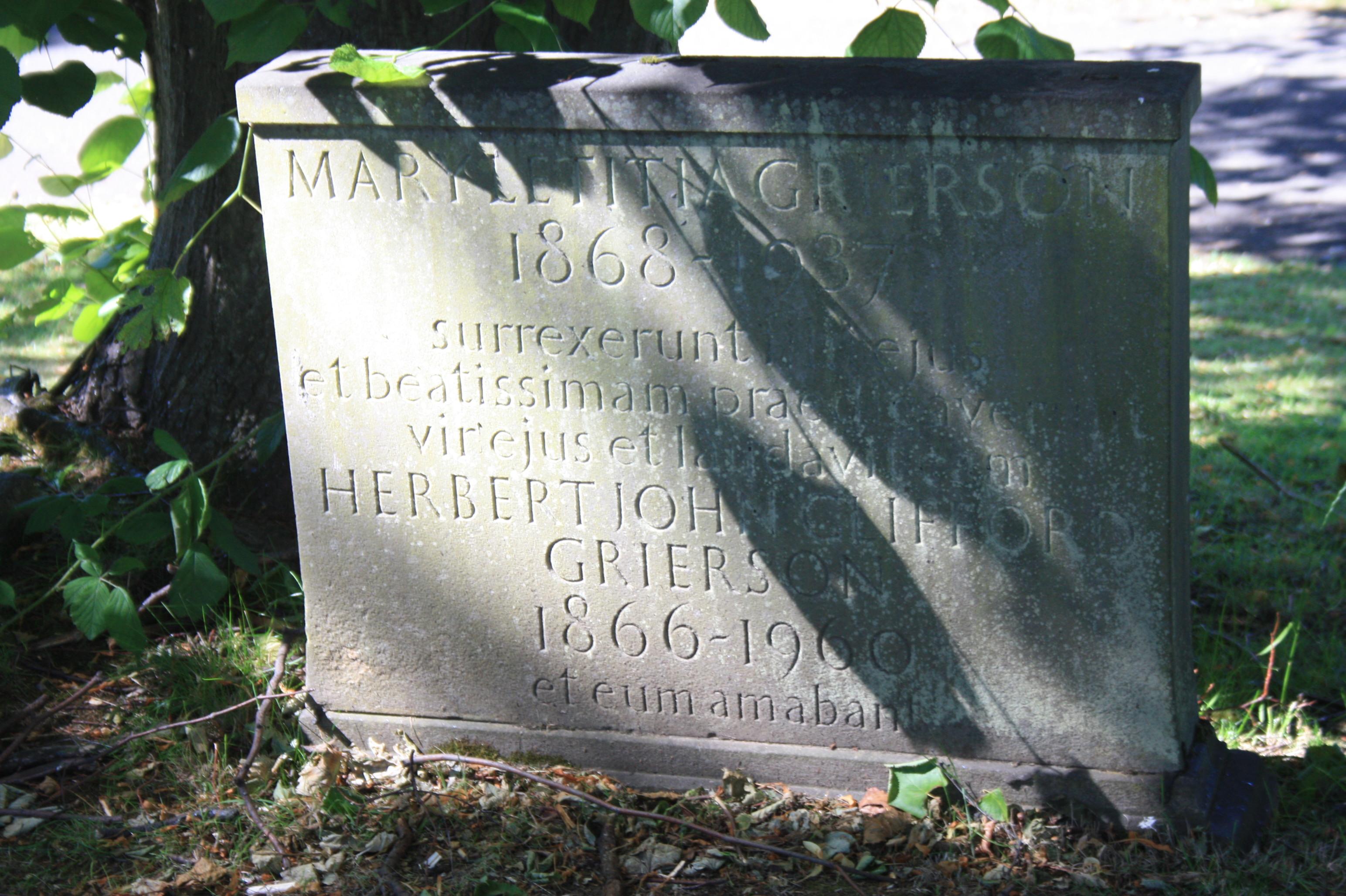 The grave of Herbert Grierson, Dean Cemetery