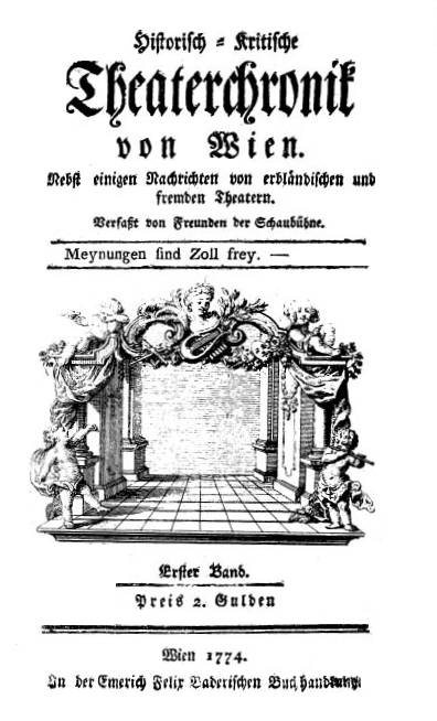 Filetheaterchronik Wien 1774 Titeljpg Wikimedia Commons