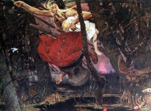 An image of 'Baba Yaga' by Viktor Mikhailovich Vasnetsov (1917) [Public domain]