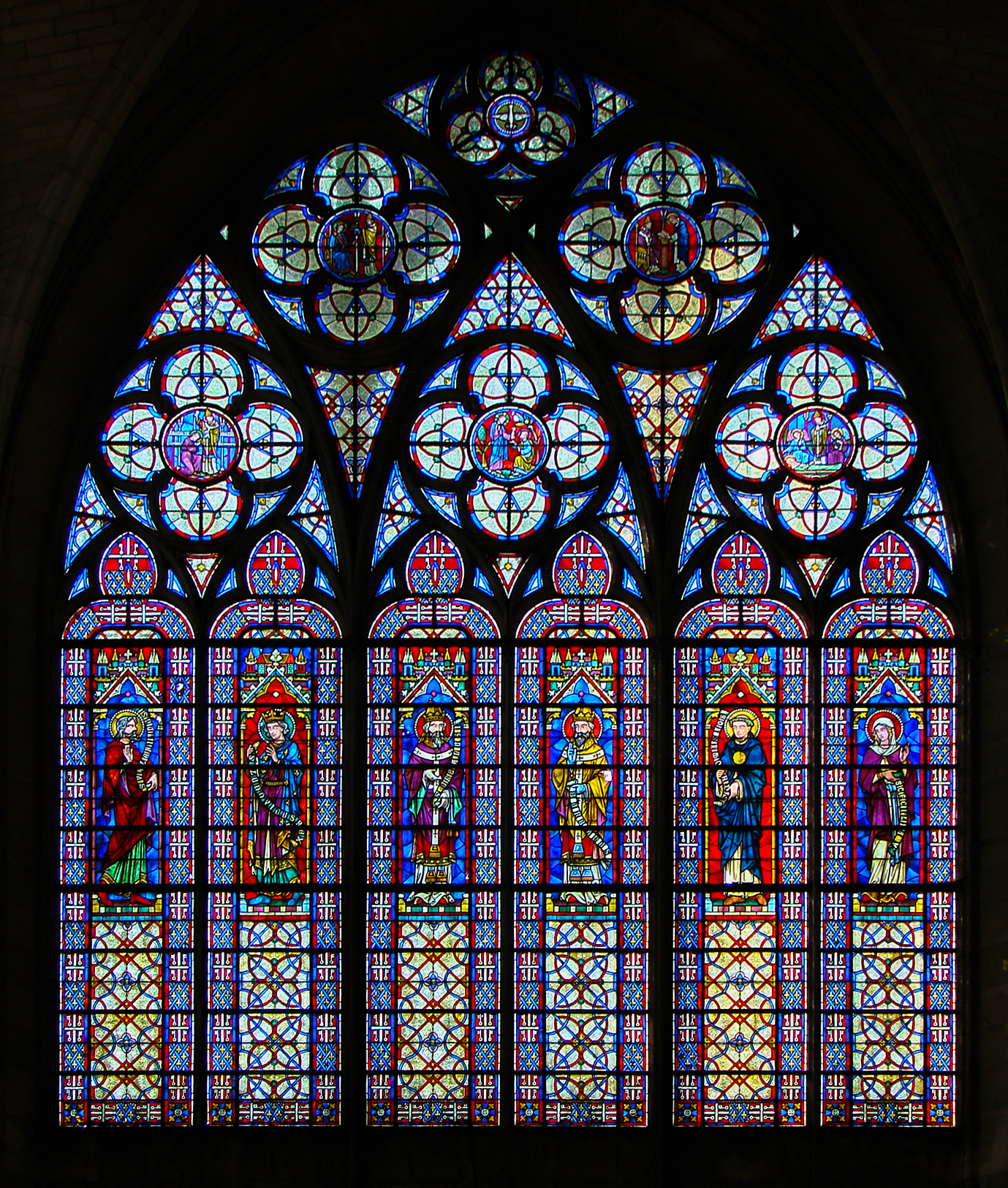 Stained Glass Are Made Up From Pieces Of Colored Arranged In Design Uploadwikimediaorg
