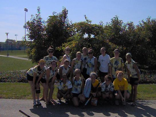 West Virginia University Field Hockey Intramural team at Penn State University