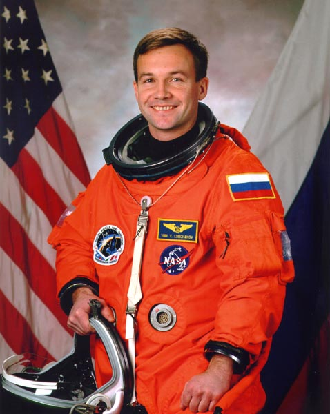 Cosmonaut Yuri V. Lonchakov, NASA photo (2002)Source: Wikipedia www.jsc.nasa.gov page unavailable April 2019) Yuri_Lonchakov.jpg