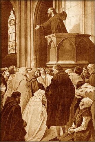 Černý, Věnceslav - Mistr Jan Hus káže v kapli Betlémské