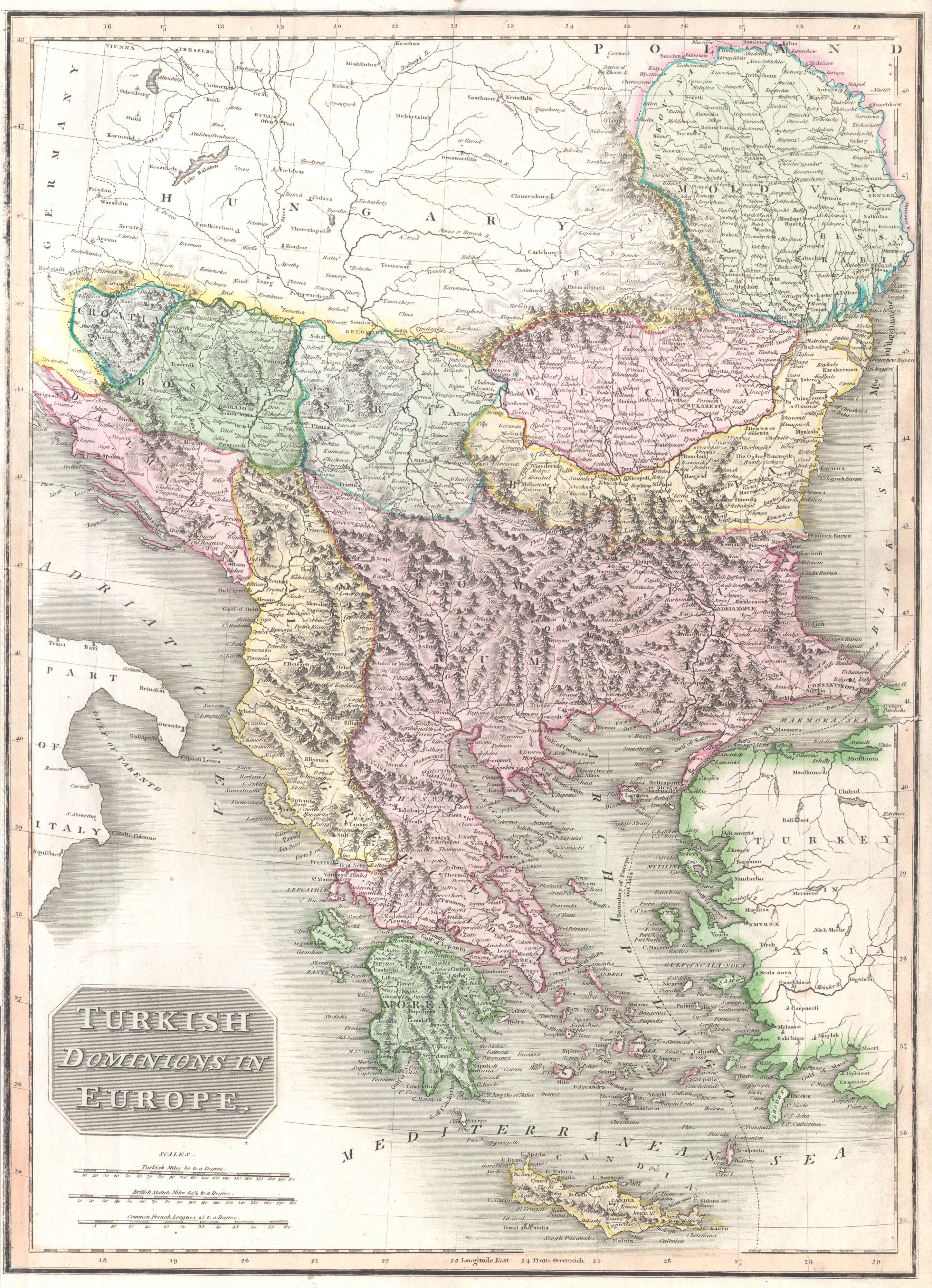File1814 Thomson Map of Greece Turkey in Europe and the
