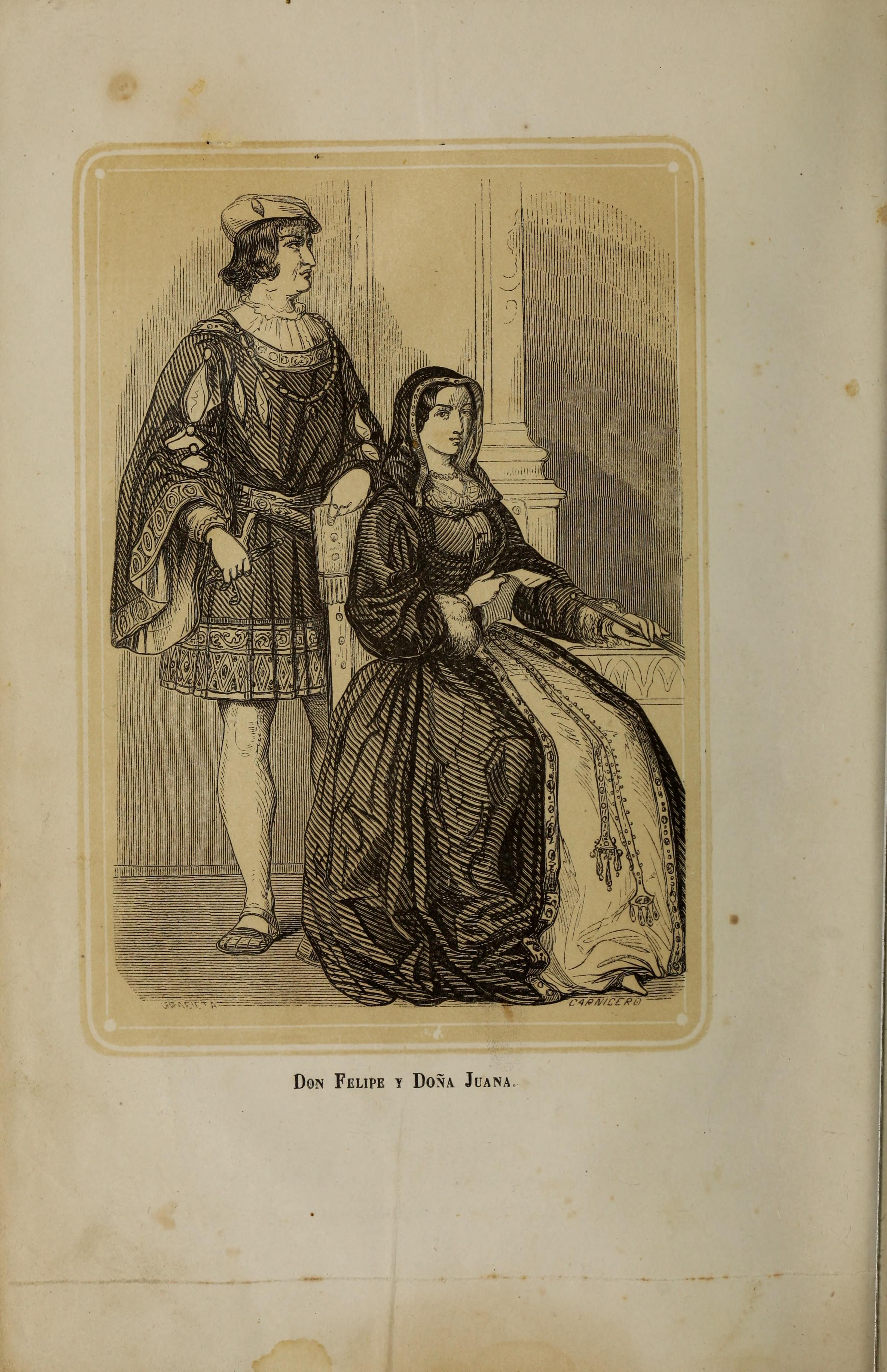 File:1862, La reina loca de amor, Don Felipe y Doña Juana.