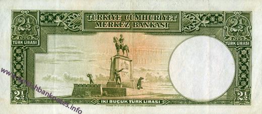 2 Bucuk Turk Lirası arka