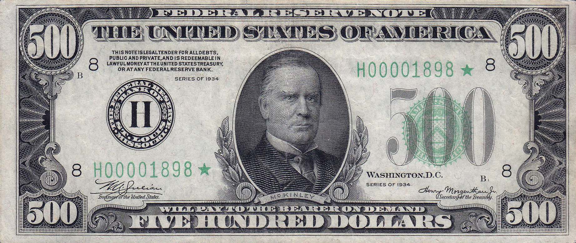 Datei500 USD Note Series Of 1934 Obverse