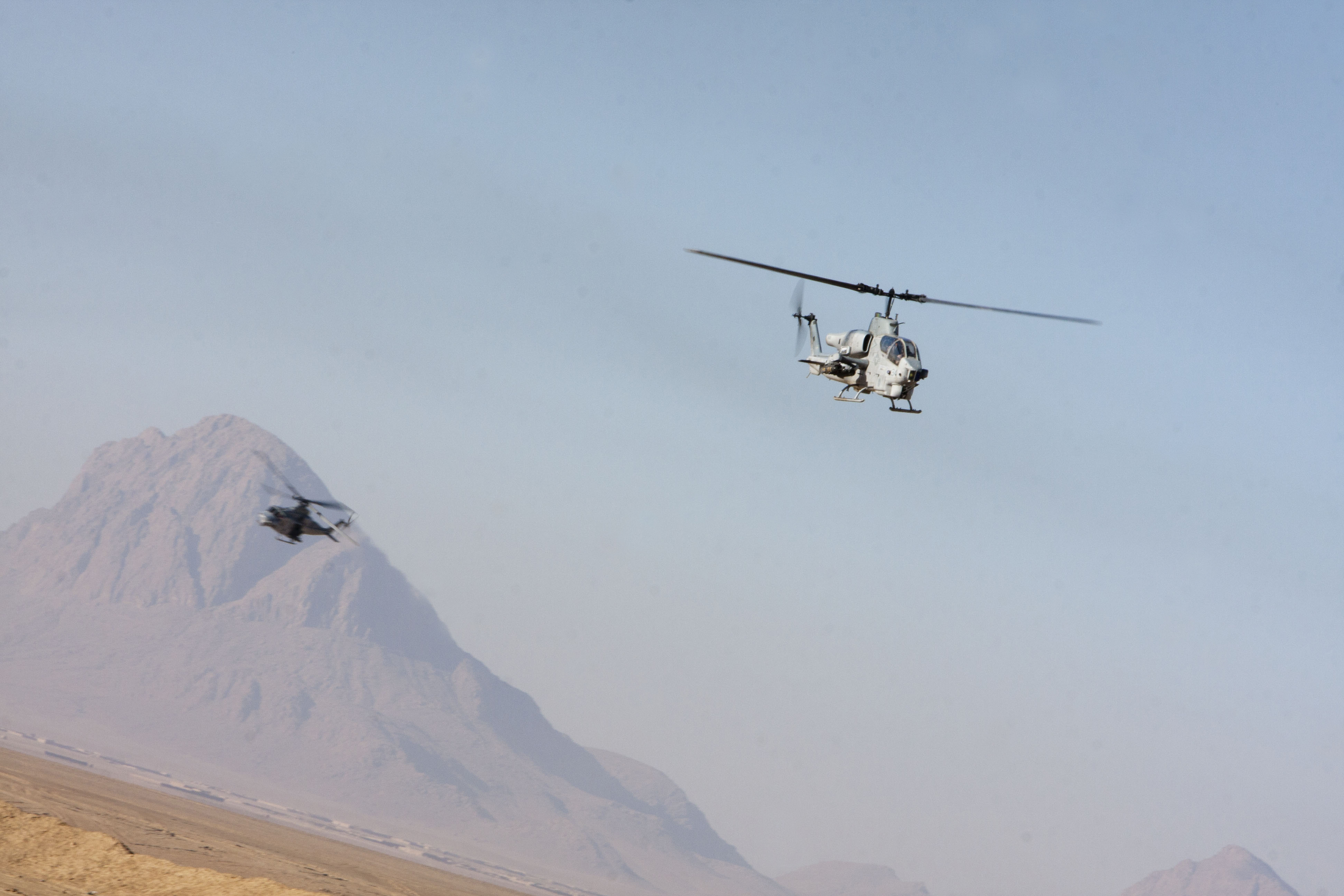 File:A U.S. Marine Corps UH-1Y Venom helicopter (left) and ...