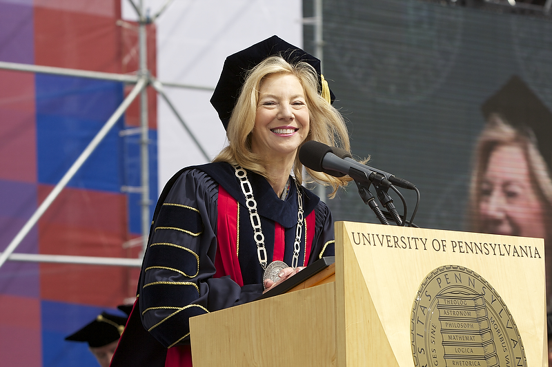 Gutmann at the University of Pennsylvania commencement in 2009