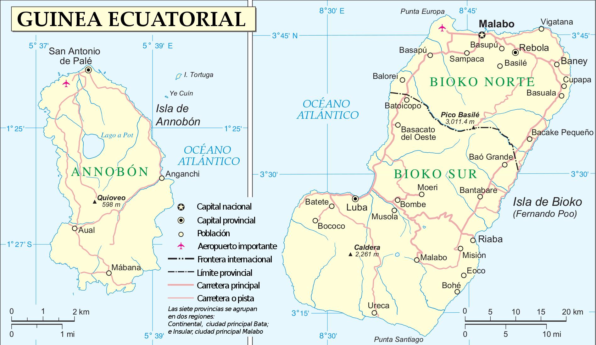 Provincias de Guinea Ecuatorial - Wikiwand