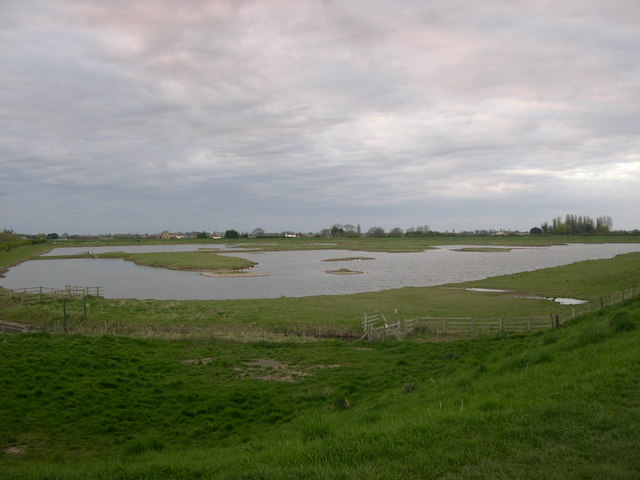 Artificial lagoon, Freiston Shore managed realignment site - geograph.org.uk - 389063