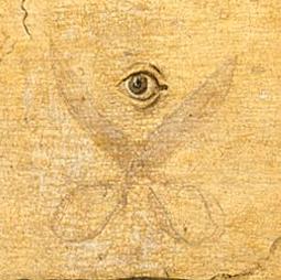 Auge und Schere