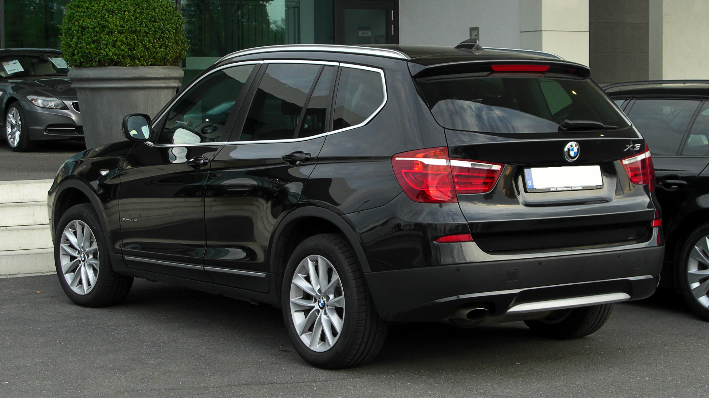 datei bmw x3 xdrive20d f25 heckansicht 16 april 2011 d wikipedia. Black Bedroom Furniture Sets. Home Design Ideas